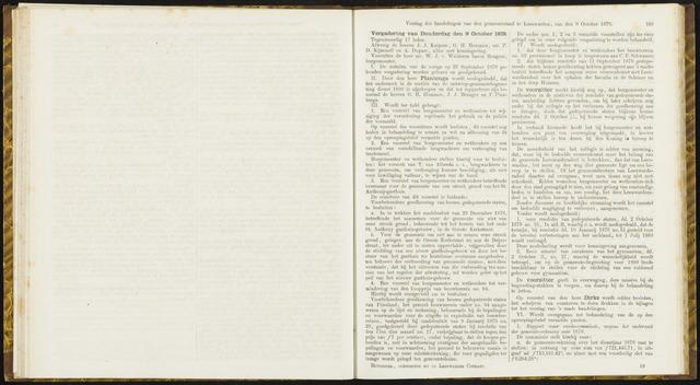 Raadsverslagen van de gemeente Leeuwarden, 1865-2007 (Notulen) 1879-10-09