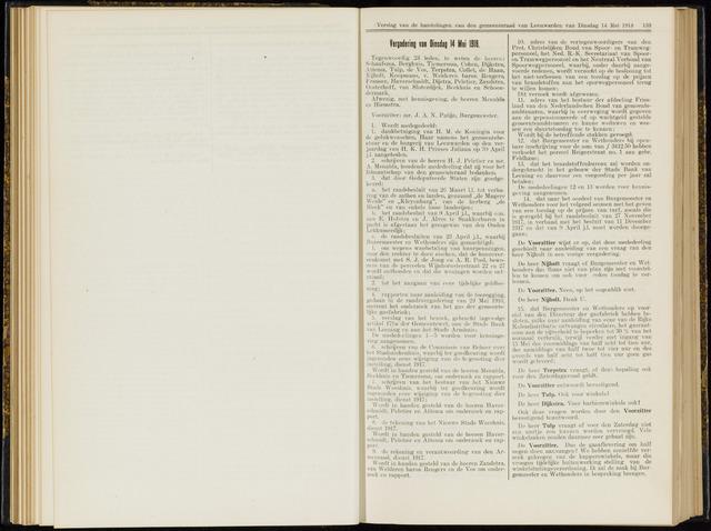 Raadsverslagen van de gemeente Leeuwarden, 1865-2007 (Notulen) 1918-05-14