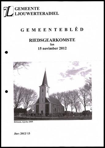 Notulen van de gemeenteraad van Leeuwarderadeel 2012-11-15