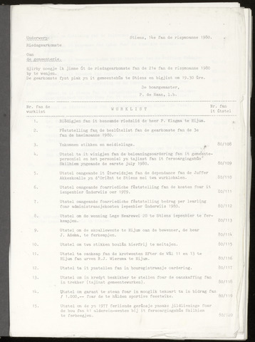 Notulen van de gemeenteraad van Leeuwarderadeel 1980-08-21