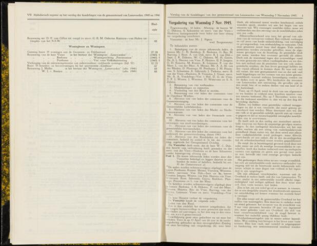 Raadsverslagen van de gemeente Leeuwarden, 1865-2007 (Notulen) 1945