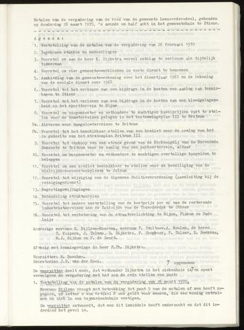 Notulen van de gemeenteraad van Leeuwarderadeel 1970-03-26