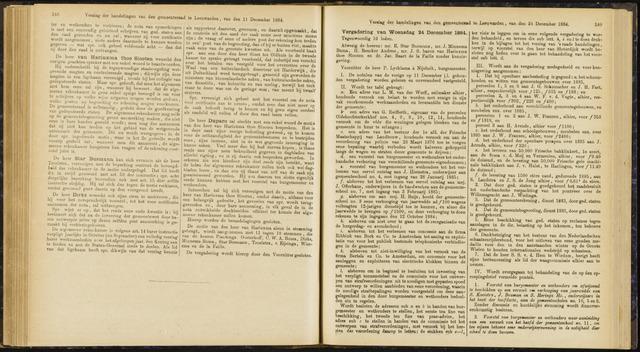 Raadsverslagen van de gemeente Leeuwarden, 1865-2007 (Notulen) 1884-12-24