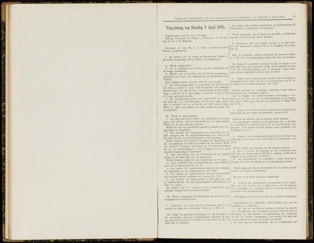 Raadsverslagen van de gemeente Leeuwarden, 1865-2007 (Notulen) 1895-04-09