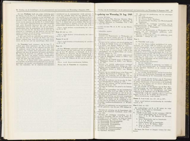 Raadsverslagen van de gemeente Leeuwarden, 1865-2007 (Notulen) 1949-08-24