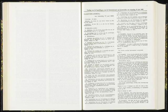 Raadsverslagen van de gemeente Leeuwarden, 1865-2007 (Notulen) 1963-06-19