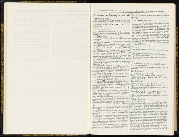 Raadsverslagen van de gemeente Leeuwarden, 1865-2007 (Notulen) 1948-06-30