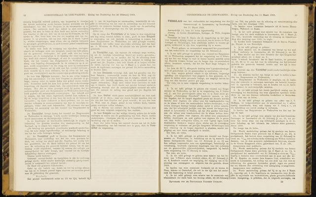 Raadsverslagen van de gemeente Leeuwarden, 1865-2007 (Notulen) 1869-03-11