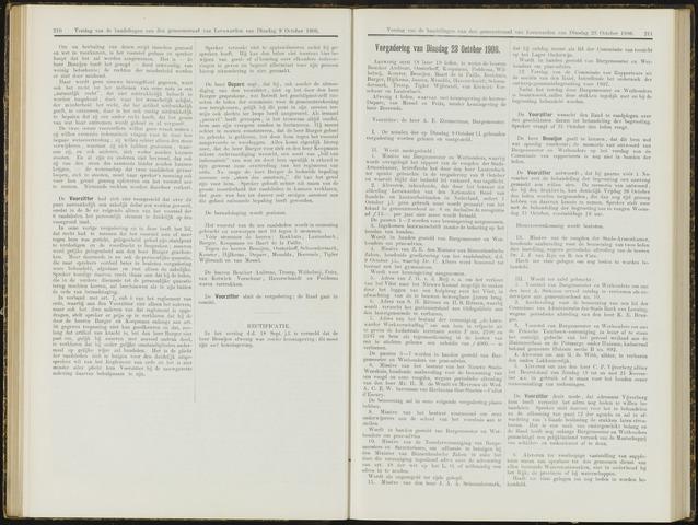 Raadsverslagen van de gemeente Leeuwarden, 1865-2007 (Notulen) 1906-10-23