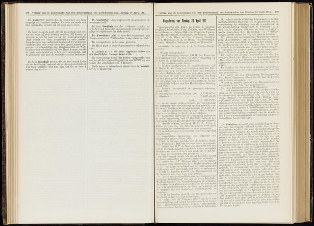 Raadsverslagen van de gemeente Leeuwarden, 1865-2007 (Notulen) 1917-04-24