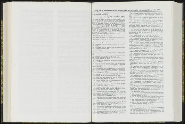 Raadsverslagen van de gemeente Leeuwarden, 1865-2007 (Notulen) 1969-11-24