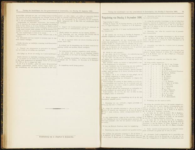 Raadsverslagen van de gemeente Leeuwarden, 1865-2007 (Notulen) 1896-09-01