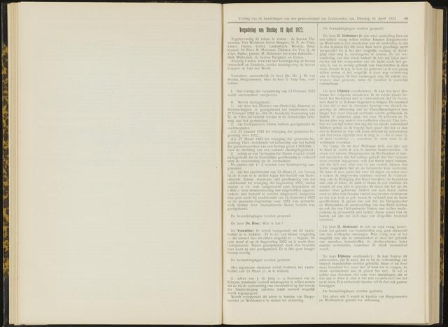 Raadsverslagen van de gemeente Leeuwarden, 1865-2007 (Notulen) 1923-04-10