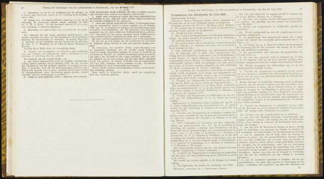 Raadsverslagen van de gemeente Leeuwarden, 1865-2007 (Notulen) 1879-07-24