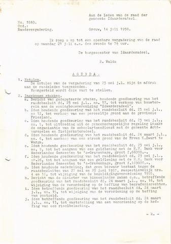 raadsverslagen Idaarderadeel 1935-1983 1958-07-21