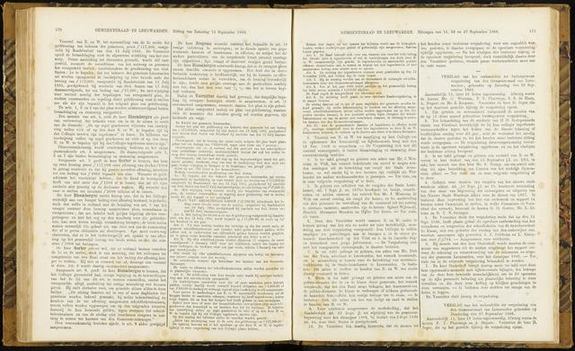 Raadsverslagen van de gemeente Leeuwarden, 1865-2007 (Notulen) 1866-09-22