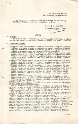 raadsverslagen Idaarderadeel 1935-1983 1951-10-08