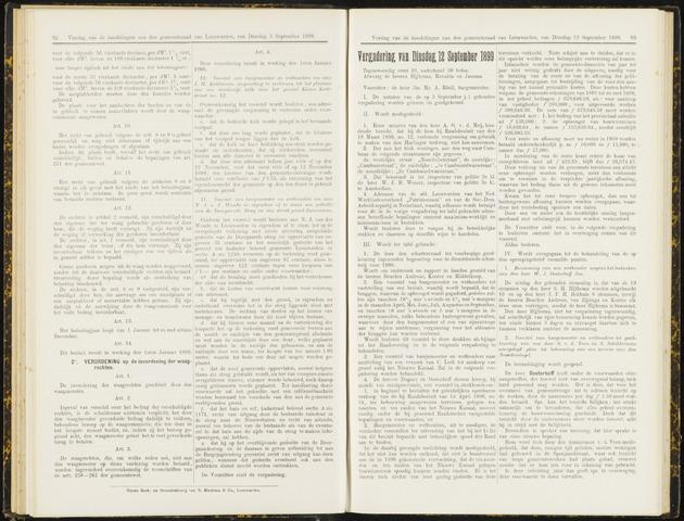 Raadsverslagen van de gemeente Leeuwarden, 1865-2007 (Notulen) 1899-09-12