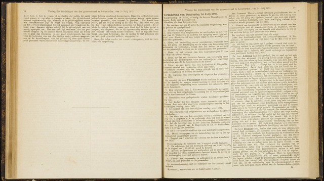 Raadsverslagen van de gemeente Leeuwarden, 1865-2007 (Notulen) 1873-07-24