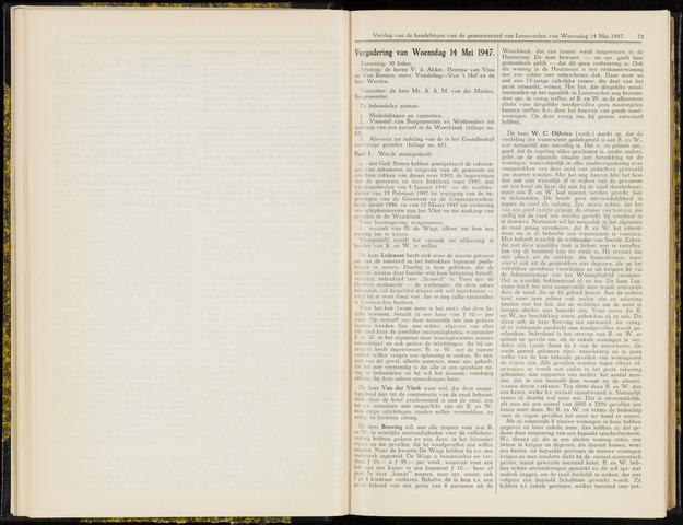 Raadsverslagen van de gemeente Leeuwarden, 1865-2007 (Notulen) 1947-05-14