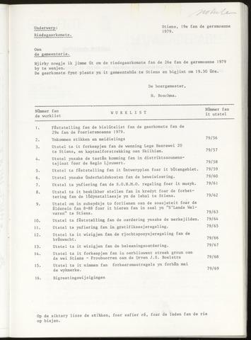 Notulen van de gemeenteraad van Leeuwarderadeel 1979-04-26