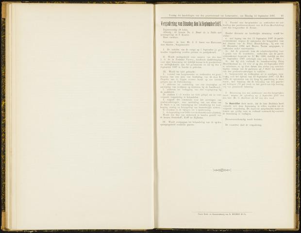 Raadsverslagen van de gemeente Leeuwarden, 1865-2007 (Notulen) 1897-09-14