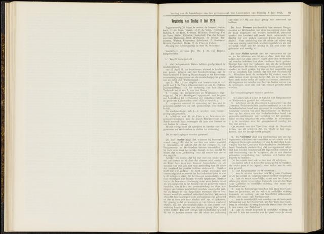 Raadsverslagen van de gemeente Leeuwarden, 1865-2007 (Notulen) 1926-06-08