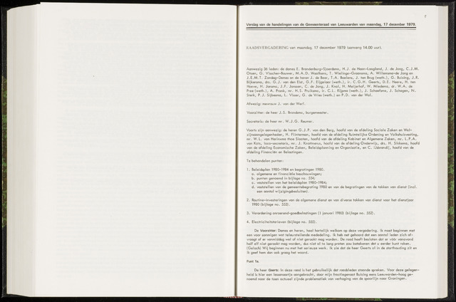 Raadsverslagen van de gemeente Leeuwarden, 1865-2007 (Notulen) 1979-12-17