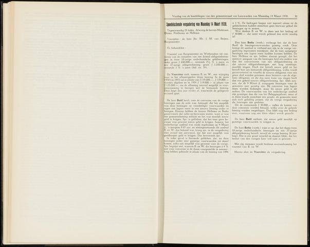 Raadsverslagen van de gemeente Leeuwarden, 1865-2007 (Notulen) 1938-03-14