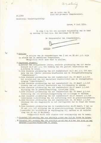 raadsverslagen Idaarderadeel 1935-1983 1954-06-14