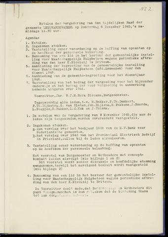 Notulen van de gemeenteraad van Leeuwarderadeel 1945-12-06