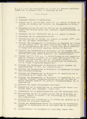 Notulen van de gemeenteraad van Leeuwarderadeel 1950-12-18