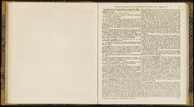 Raadsverslagen van de gemeente Leeuwarden, 1865-2007 (Notulen) 1875-08-12