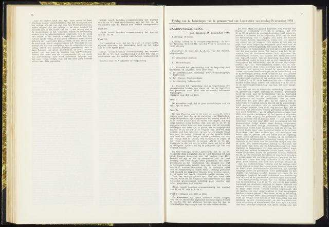 Raadsverslagen van de gemeente Leeuwarden, 1865-2007 (Notulen) 1958-11-18