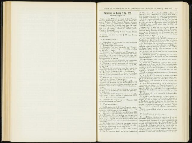 Raadsverslagen van de gemeente Leeuwarden, 1865-2007 (Notulen) 1932-05-03