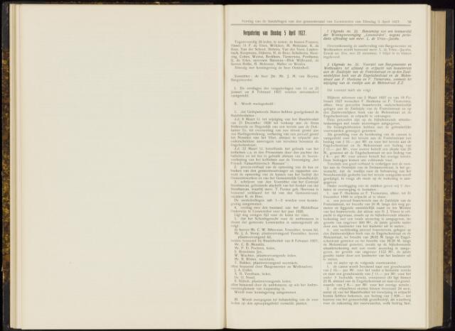 Raadsverslagen van de gemeente Leeuwarden, 1865-2007 (Notulen) 1927-04-05