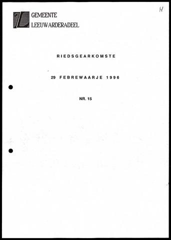 Notulen van de gemeenteraad van Leeuwarderadeel 1996-02-29