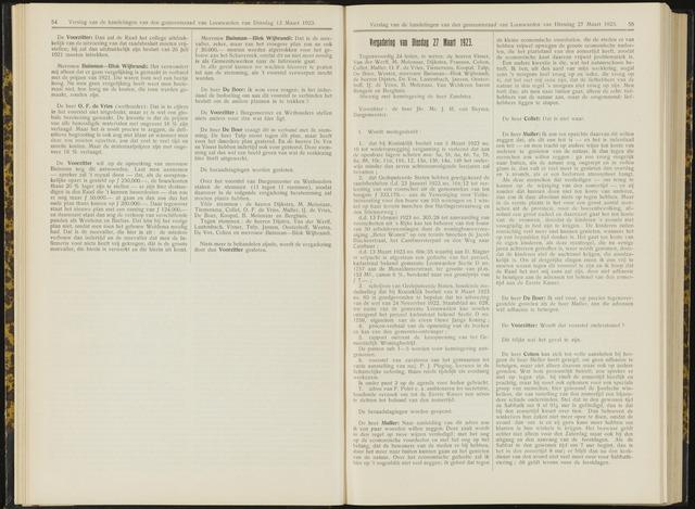 Raadsverslagen van de gemeente Leeuwarden, 1865-2007 (Notulen) 1923-03-27