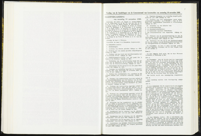 Raadsverslagen van de gemeente Leeuwarden, 1865-2007 (Notulen) 1968-11-18