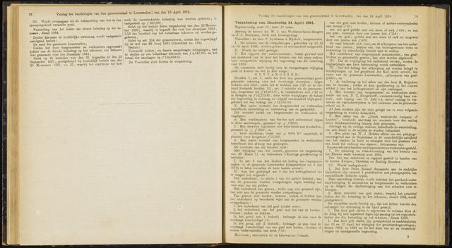 Raadsverslagen van de gemeente Leeuwarden, 1865-2007 (Notulen) 1884-04-24