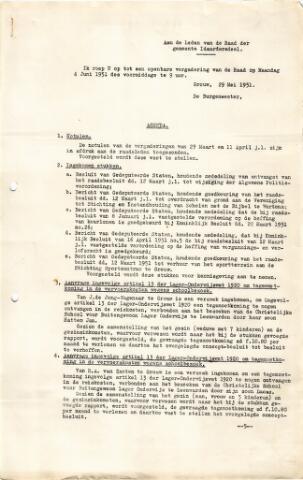 raadsverslagen Idaarderadeel 1935-1983 1951-06-04