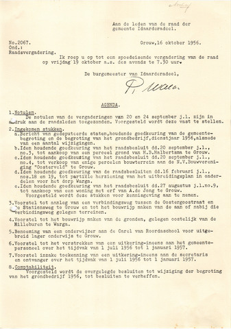 raadsverslagen Idaarderadeel 1935-1983 1956-10-19