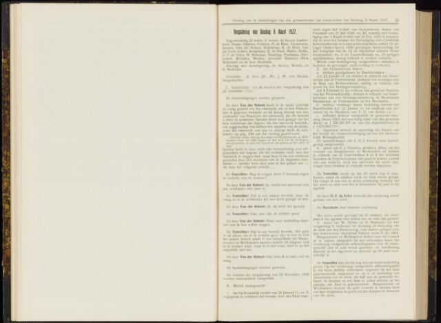 Raadsverslagen van de gemeente Leeuwarden, 1865-2007 (Notulen) 1927-03-08