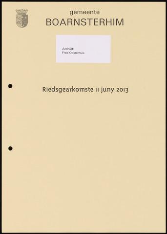 Boarnsterhim vergaderstukken gemeenteraad  2013-06-11