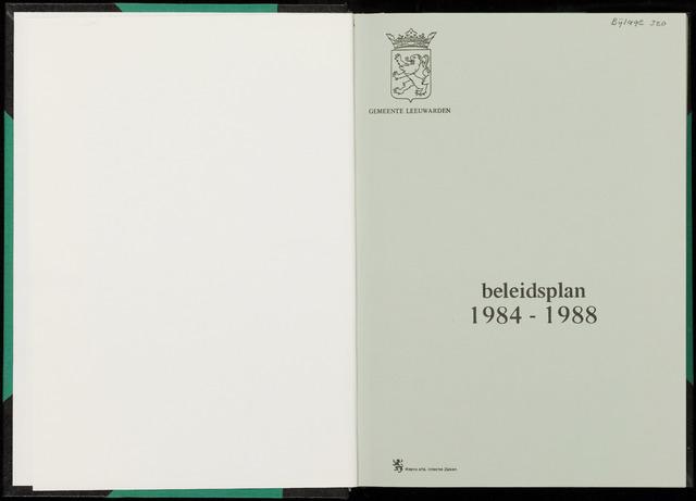 Raadsverslagen van de gemeente Leeuwarden, 1865-2007 (Bijlagen) 1983-01-01