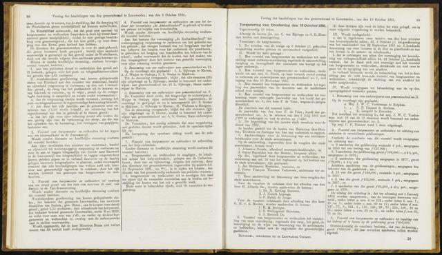 Raadsverslagen van de gemeente Leeuwarden, 1865-2007 (Notulen) 1881-10-13