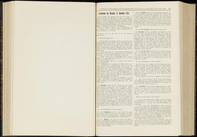 Raadsverslagen van de gemeente Leeuwarden, 1865-2007 (Notulen) 1926-11-22