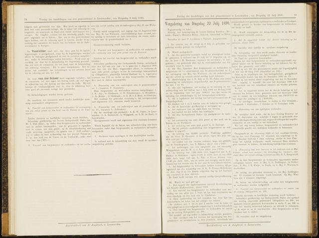 Raadsverslagen van de gemeente Leeuwarden, 1865-2007 (Notulen) 1890-07-22