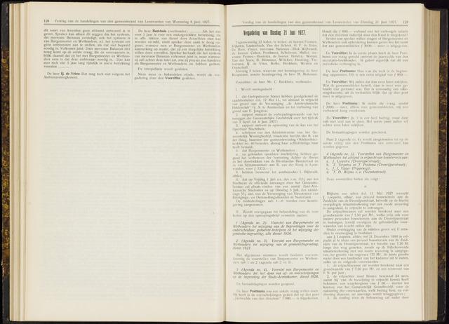 Raadsverslagen van de gemeente Leeuwarden, 1865-2007 (Notulen) 1927-06-21