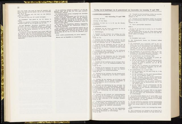 Raadsverslagen van de gemeente Leeuwarden, 1865-2007 (Notulen) 1960-04-13